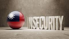 Stock Illustration of Taiwan. Insecurity Concept.