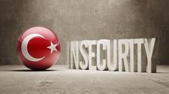 Turkey. Insecurity Concept. Stock Illustration