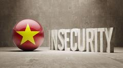 Stock Illustration of Vietnam. Insecurity Concept.