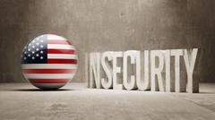 United States. Insecurity Concept. Stock Illustration