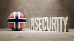 Norway. Insecurity Concept. Stock Illustration