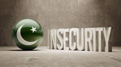 Stock Illustration of Pakistan. Insecurity Concept.