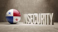 Panama. Insecurity Concept. Stock Illustration