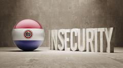 Paraguay. Insecurity Concept. Stock Illustration