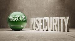 Saudi Arabia. Insecurity Concept. Stock Illustration