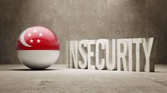Singapore Insecurity Concept. Stock Illustration