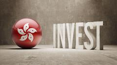Hong Kong. Invest Concept. - stock illustration