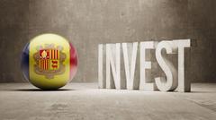 Andorra. Invest Concept. - stock illustration
