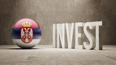 Serbia. Invest Concept. - stock illustration