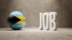 Bahamas. Job Concept. Stock Illustration