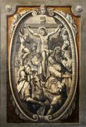 12th Stations of the Cross, Jesus dies on the cross Stock Photos