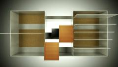 Wardrobe installation and assembling from parts. Alpha Stock Footage