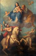 Altar painting in the Basilica Santa Maria della Steccata, Parma, Italy - stock photo