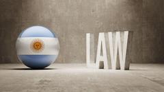 Argentina. Law Concept. - stock illustration