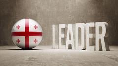 Georgia Leader Concept. - stock illustration