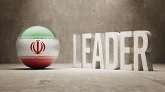 Iran. Leader Concept. - stock illustration