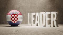 Stock Illustration of Croatia. Leader Concept.