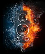 Acoustic Loudspeaker - stock illustration