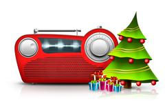 Christmas Radio - stock illustration
