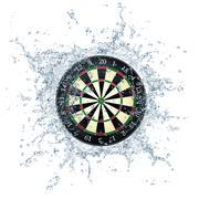 Darts Board Stock Illustration