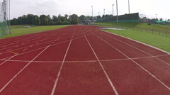 Running field or track empty Stock Footage