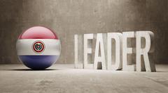 Paraguay. Leader Concept. - stock illustration