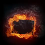 Fire Background Stock Illustration