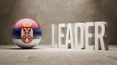 Stock Illustration of Serbia. Leader Concept.