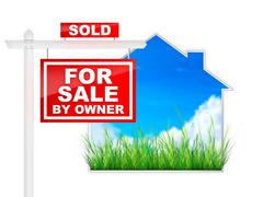 For Sale by Owner - stock illustration