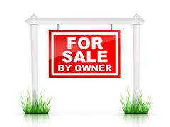 For Sale by Owner Stock Illustration