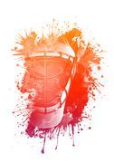 Hockey Helmet Piirros