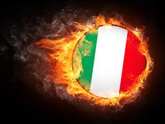 Italy Flag Stock Illustration