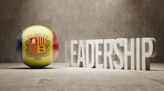 Andorra. Leadership Concept. - stock illustration