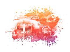 Old Car Stock Illustration