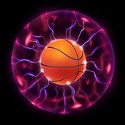 Basketball Ball Wheel Stock Illustration