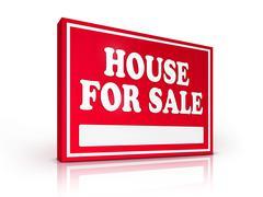 Real Estate Sign - House For sale Stock Illustration