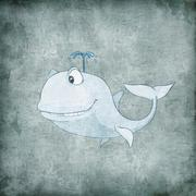 Cartoon Character Whale Piirros