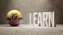 Ecuador. Learn Concept. - stock illustration