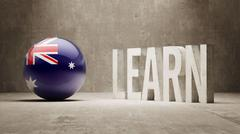 Australia. Learn Concept. - stock illustration