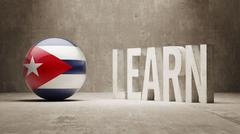 Cuba. Learn Concept. - stock illustration
