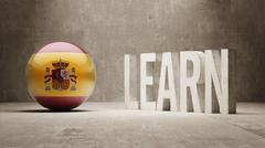 Spain. Learn Concept. - stock illustration