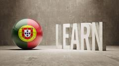 Portugal. Learn Concept. Stock Illustration