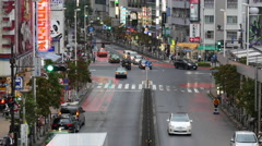 Time Lapse - View of Traffic on Busy Boulevard after Rain Storm - Tokyo Japan Stock Footage