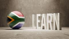 South Africa. Learn Concept. Stock Illustration