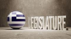 Stock Illustration of Greece. Legislature Concept.