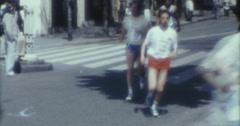Paris City Marathon Run 80s 70s 16mm Stock Footage