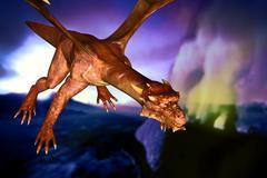 Dinosaur doomsday - stock illustration