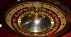 4K footage from above of a casino roulette Stock Footage