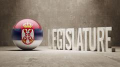 Serbia. Legislature Concept. - stock illustration
