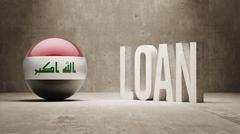 Stock Illustration of Iraq. Loan Concept.